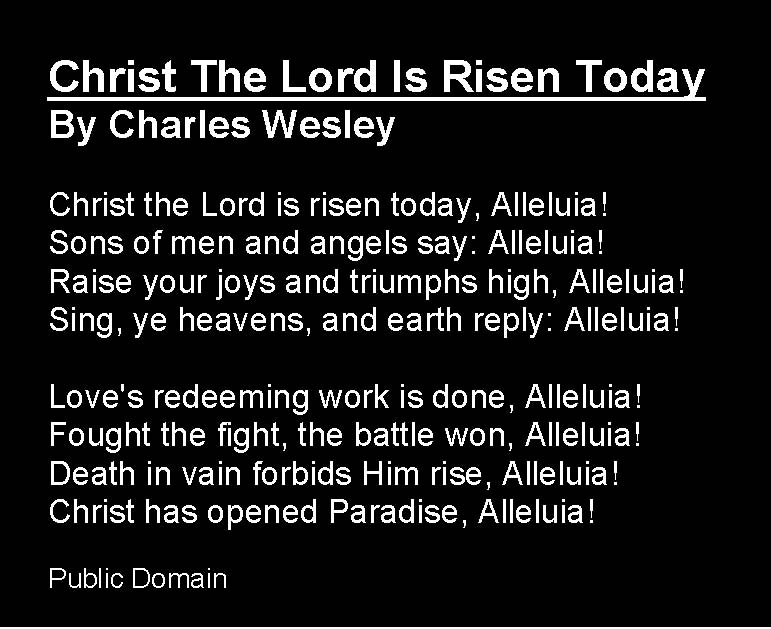 hyaciharos blog: Christ The Lord Is Risen Today Lyrics | Snipsly